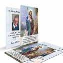 Jesus The Shepherd Religious Catholic Funeral Wallet Card - JC08