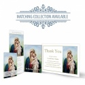 Catholic Laminated Memorial Thank You Card with Blessed Virgin Mary Jesus - MAR05