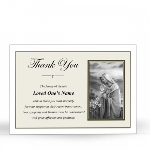MARY50 Memorial Thank You Card