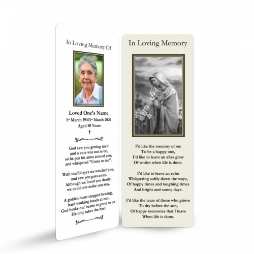 MARY50 Memorial Bookmark