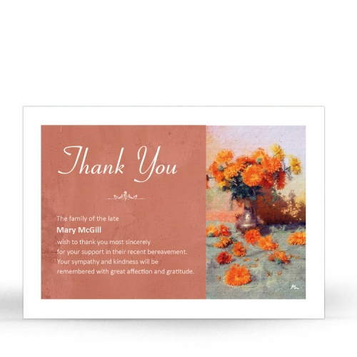 BES09 Memorial Thank You Card