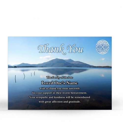 CEL02 Memorial Thank You Card
