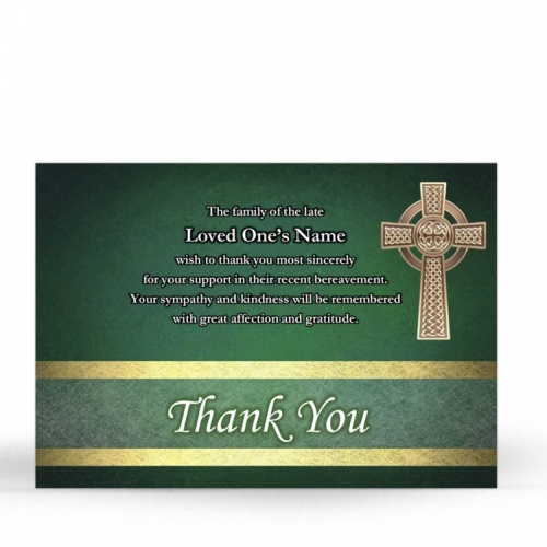 CEL05 Memorial Thank You Card
