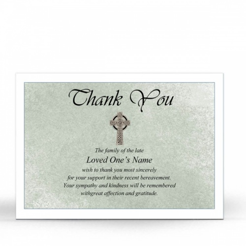 CEL12 Memorial Thank You Card