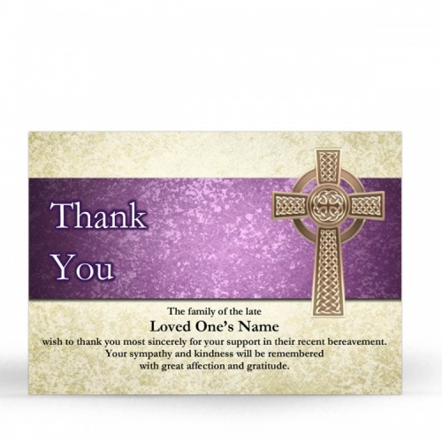 CEL13 Memorial Thank You Card