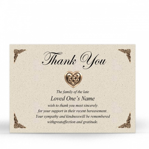 CEL14 Memorial Thank You Card