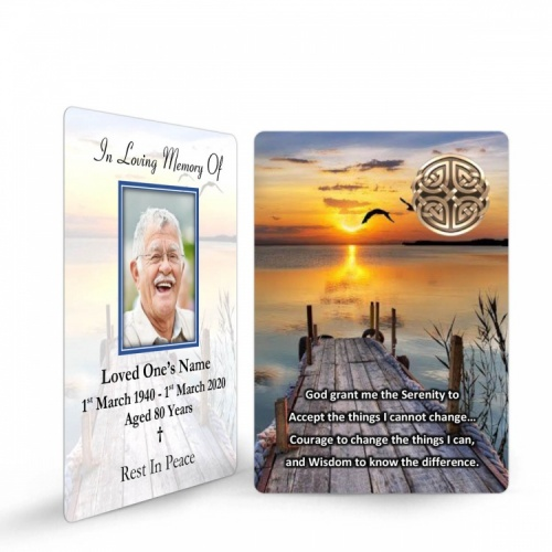 Irish Memorial Prayer Cards Ireland Theme In Loving Memory Of  Personalised Photo - CEL17