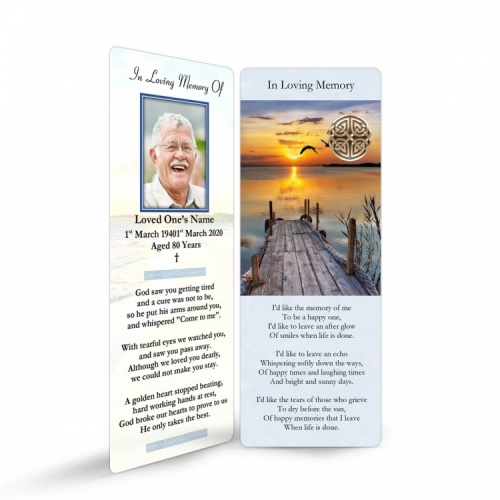 Irish Memorial Cards Ireland Theme In Loving Memory Of  Personalised Photo - CEL17