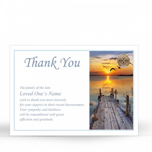Irish Memorial Acknowledgment Cards Ireland Theme In Loving Memory Of  Personalised Photo - CEL17