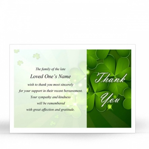 CEL19 Memorial Thank You Card