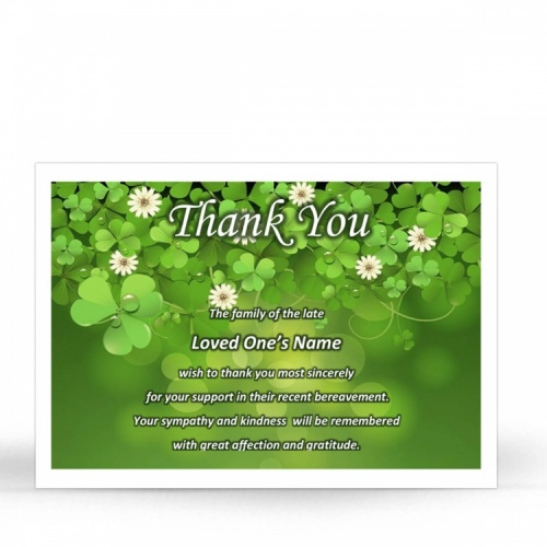 CEL24 Memorial Thank You Card