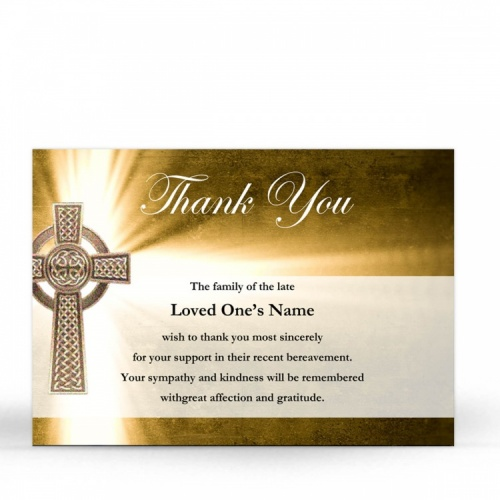 CEL29 Memorial Thank You Card