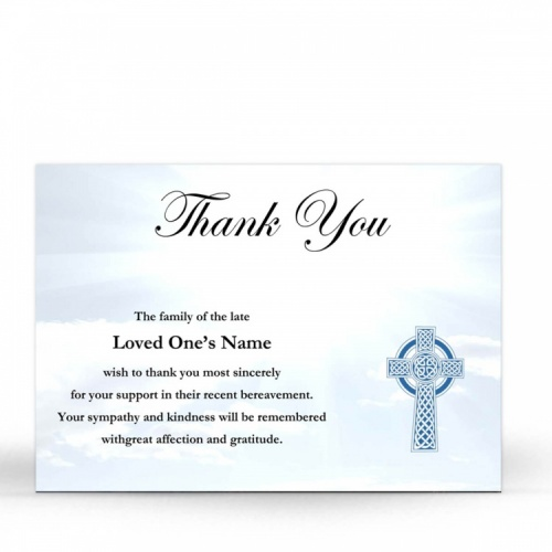 CEL30 Memorial Thank You Card