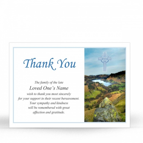 CEL34 Memorial Thank You Card