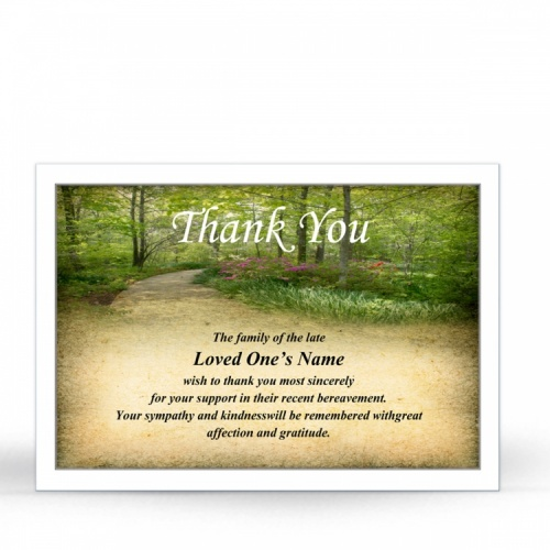 CEL47 Memorial Thank You Card