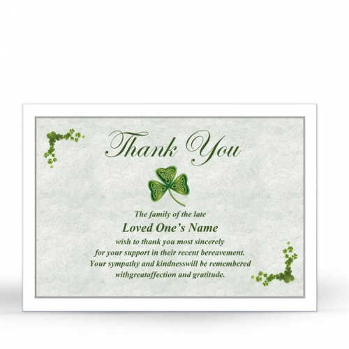 CEL53 Memorial Thank You Card