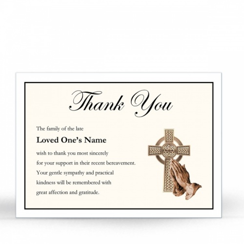 CEL57 Memorial Thank You Card