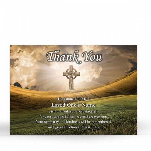 CEL59 Memorial Thank You Card