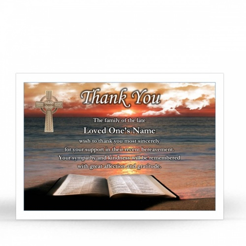 CEL60 Memorial Thank You Card