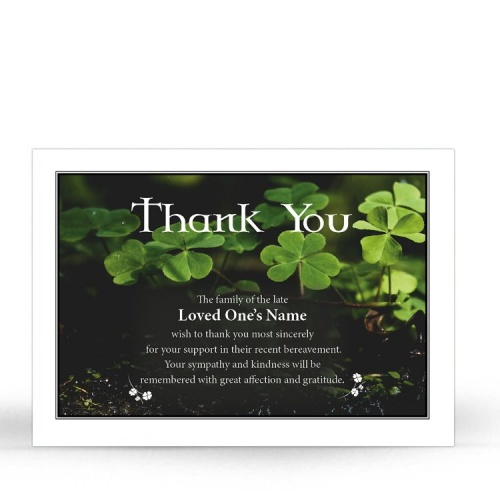 CEL44 Memorial Thank You Card