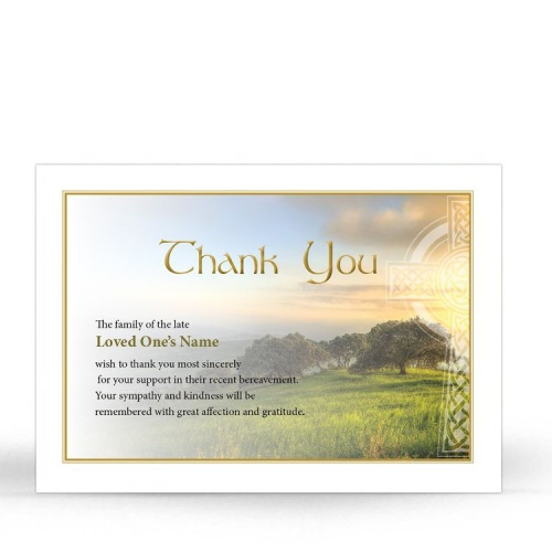 CEL46 Memorial Thank You Card