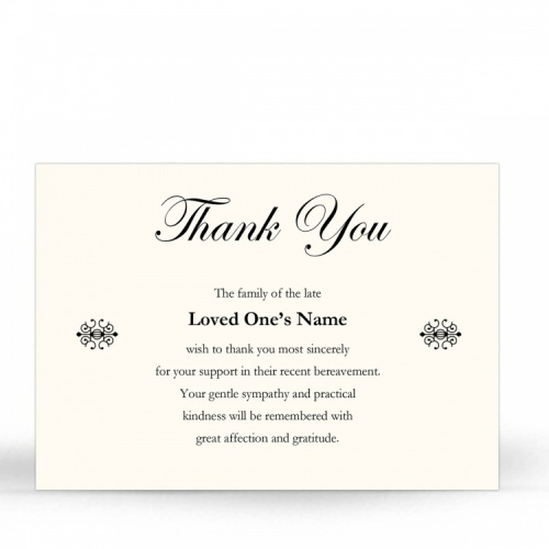 CLS25 Memorial Thank You Card