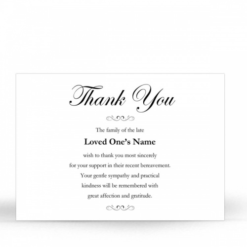 CLS01 Memorial Thank You Card