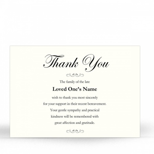 CLS02 Memorial Thank You Card