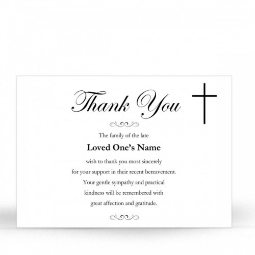 CLS03 Memorial Thank You Card