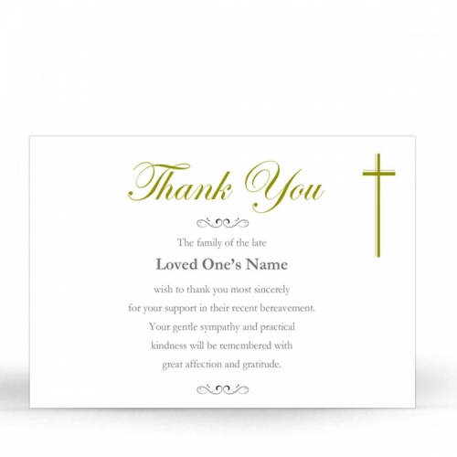 CLS04 Memorial Thank You Card