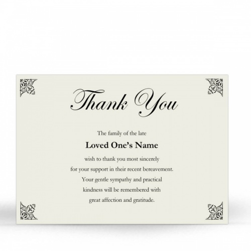 CLS06 Memorial Thank You Card