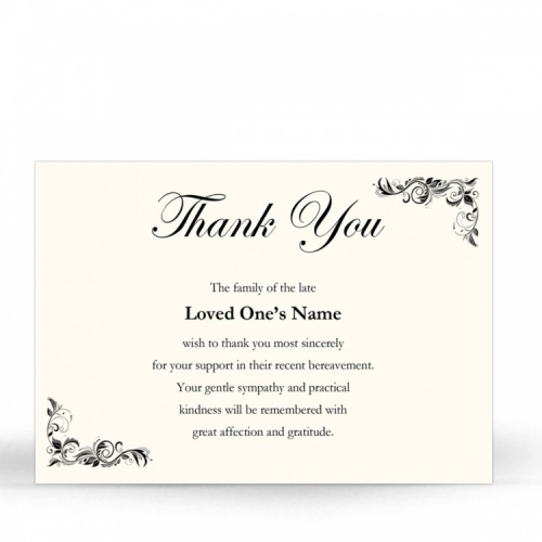 CLS11 Memorial Thank You Card