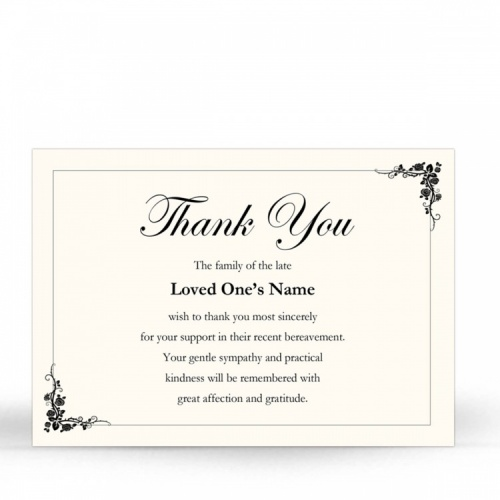 CLS13 Memorial Thank You Card