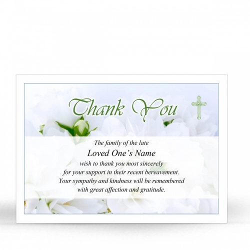CRS29 Memorial Thank You Card