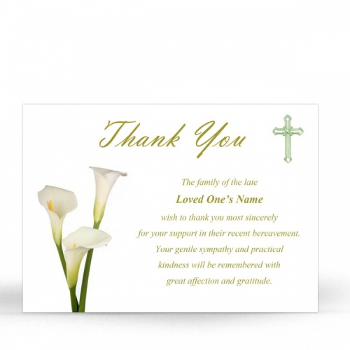 CRS28 Memorial Thank You Card