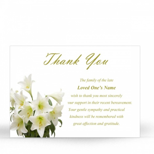FLW07 Memorial Thank You Card