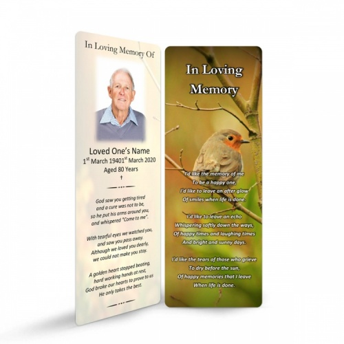 FLW123 Memorial Bookmark