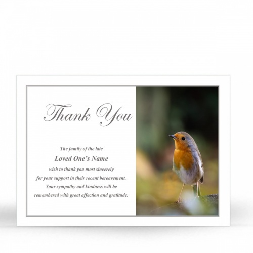 FLW124 Memorial Thank You Card