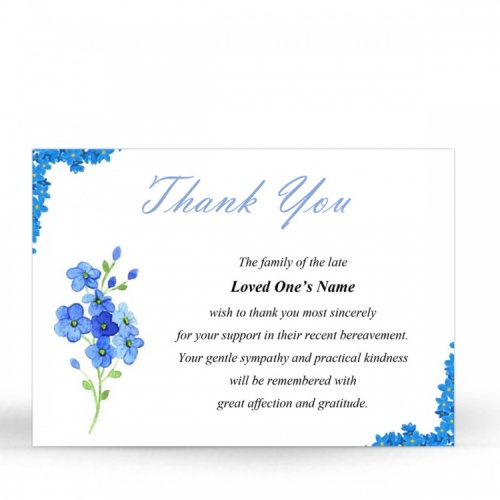 FLW14 Memorial Thank You Card