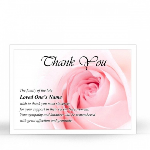 FLW20 Memorial Thank You Card