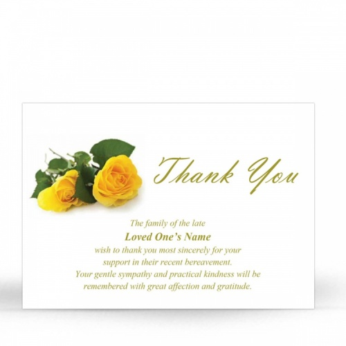 FLW21 Memorial Thank You Card