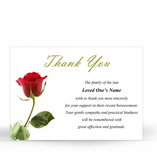 FLW22 Memorial Thank You Card