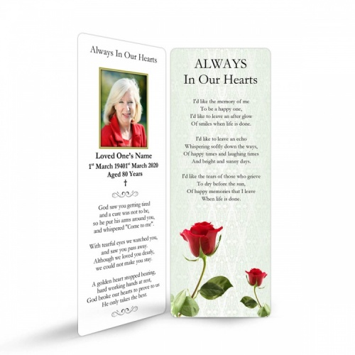 FLW32 Memorial Bookmark