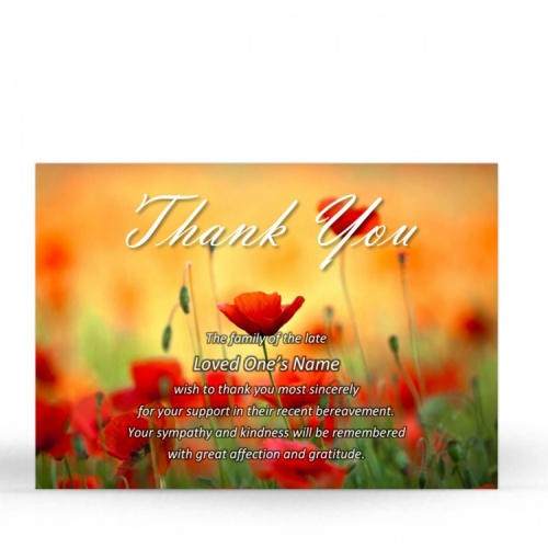 FLW47 Memorial Thank You Card