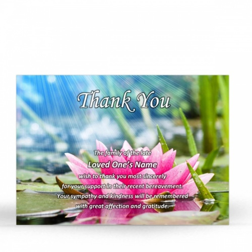 FLW58 Memorial Thank You Card
