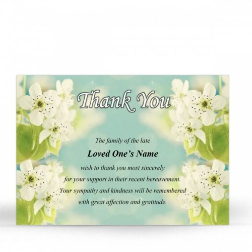 FLW64 Memorial Thank You Card