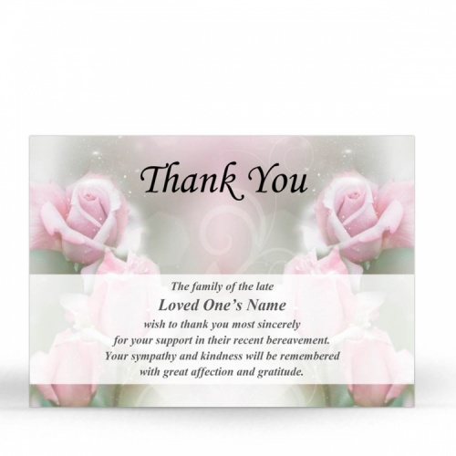 FLW65 Memorial Thank You Card