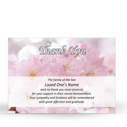 FLW73 Memorial Thank You Card