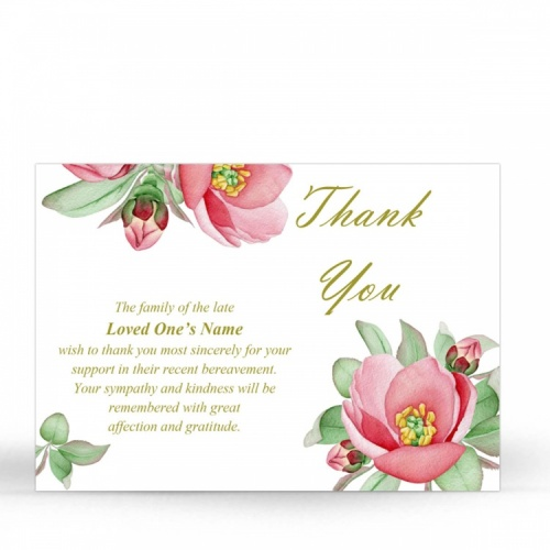 FLW74 Memorial Thank You Card