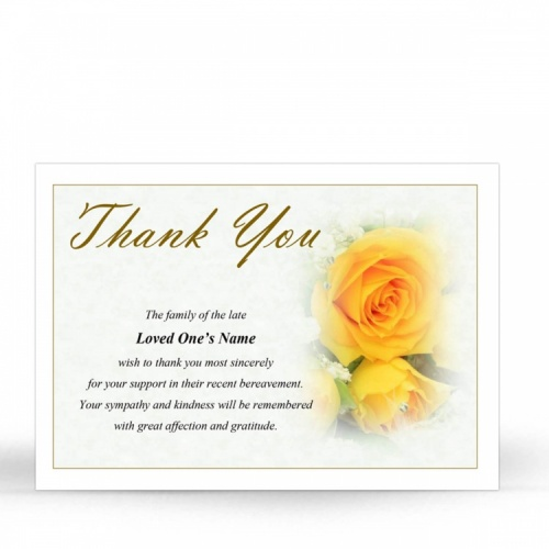 FLW76 Memorial Thank You Card